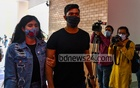 Bangladesh batsman Soumya Sarkar and his wife Prionti Debnath Puja arrive at Kurmitola General Hospital in Dhaka to receive their COVID-19 vaccine jabs on Thursday, Feb 18, 2021. Photo: Mahmud Zaman Ovi