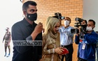 Bangladesh national cricket team player Tamim Iqbal and his wife Ayesha Siddiqa arrive at Kurmitola General Hospital in Dhaka to receive their COVID-19 vaccine jabs on Thursday, Feb 18, 2021. Photo: Mahmud Zaman Ovi