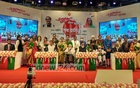 The distinguished individuals who received the Ekushey Padak-2021 at the Osmani Memorial Auditorium. Prime Minister Sheikh Hasina joined the programme via video conferencing from the Ganabhaban on Saturday, Feb 20, 2021. Photo: Asif Mahmud Ove