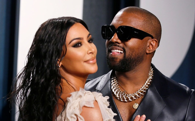 Kim Kardashian and Kanye West attend the Vanity Fair Oscar party in Beverly Hills during the 92nd Academy Awards, in Los Angeles, California, US, February 9, 2020. Reuters