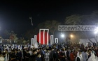 People streamed to the Central Shaheed Minar in Dhaka in the first hours of Amar Ekushey on Sunday, Feb 21, 2021 braving coronavirus infection fears to pay homage to the language martyrs. Photo: Mahmud Zaman Ovi