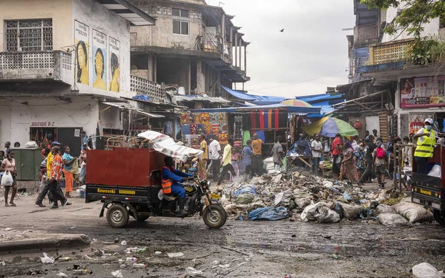 A central market in Kinshasa, the capital Congo, on Feb. 13, 2021. Israeli billionaire Dan Gertler has operated for years in Congo, a poor and strife-torn nation in central Africa.The New York Times