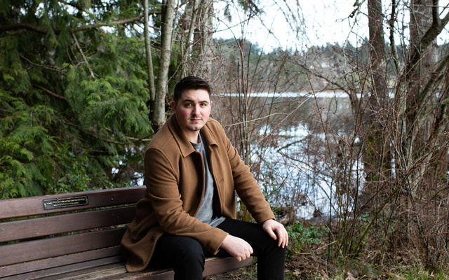 Cortland Cronk, a travelling salesman, in British Columbia's capital of Victoria, Feb 8, 2021. Cronk moved some 3,600 miles from his previous home on the other side of Canada after being publicly shamed and receiving death threats over his contracting of the coronavirus. The New York Times