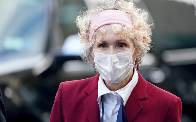 US President Donald Trump rape accuser E Jean Carroll arrives for her hearing at federal court during the coronavirus disease (COVID-19) pandemic in the Manhattan borough of New York City, New York, US, October 21, 2020. REUTERS