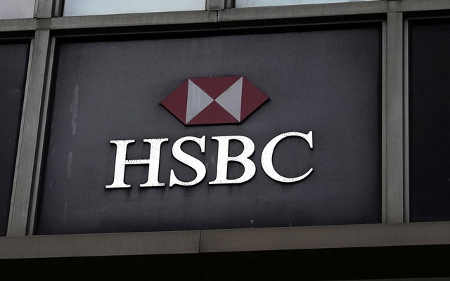 An HSBC bank logo is pictured during the coronavirus disease (COVID-19) pandemic in the Manhattan borough of New York City, New York, US, October 19, 2020. Reuters