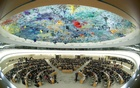 Overview of the session of the Human Rights Council during the speech of UN High Commissioner for Human Rights Michelle Bachelet at the United Nations in Geneva, Switzerland, Feb 27, 2020. REUTERS