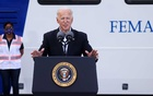 US President Joe Biden speaks after touring a Federal Emergency Management Agency (FEMA) vaccination facility for the coronavirus disease (COVID-19) at NRG Stadium in Houston, Texas, US, February 26, 2021. REUTERS
