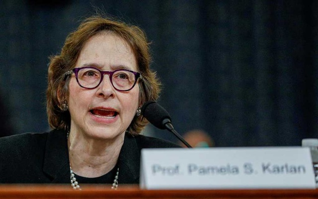 FILE PHOTO: Pamela Karlan, professor of Public Interest Law and co-director of the Supreme Court Litigation Clinic at Stanford Law School, testifies during a House Judiciary Committee hearing on the impeachment inquiry into US President Donald Trump on Capitol Hill in Washington, US, December 4, 2019. REUTERS/Tom Brenner