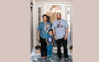 Rineeka and Steven Sheppard, who added a concession stand to their basement theater, outside their home with their son, Tristan, in Indianapolis, Feb 16, 2021. Since they have spent so much time at home in the last year, some homeowners have taken craft and design projects to a new level. (Stacy Able/The New York Times)