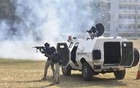 Chattogram Metropolitan Police's Crisis Response Team and Bomb Disposal Unit hold a joint drill at Dampara Police Lines on Sunday, Feb 28, 2021 after month-long training on capturing militants and freeing hostages. Photo: Suman Babu