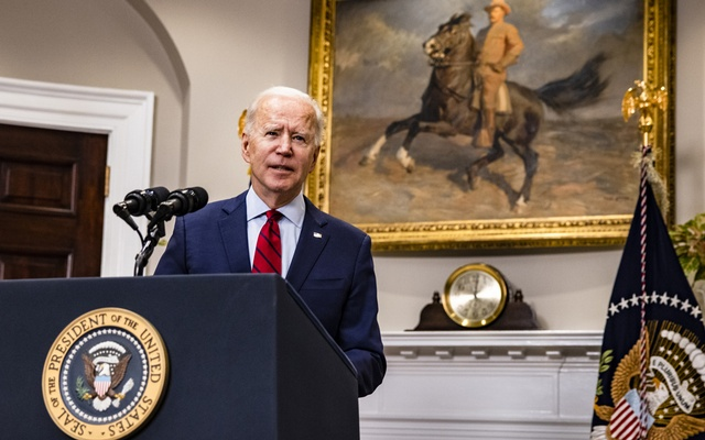 President Joe Biden talks about the coronavirus relief package, at the White House in Washington on Feb 27, 2021. The New York Times