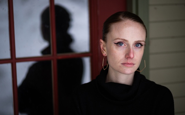 Charlotte Bennett, 25, in Warren, Vt On Feb 27, 2021. Bennett, a former aide to Gov Andrew Cuomo of New York, has accused him of sexually harassing her last year, telling The New York Times that Gov Cuomo, 63, had asked her about her sex life and whether she had ever had sex with older men. Elizabeth Frantz/The New York Times