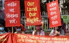 A protest was launched in Dhaka's Shahbagh on Tuesday, Mar 2, 2021, against the seizure of the lands of Mro ethnic people in the name of constructing a five-star hotel and recreation centre on Chimbuk's Naitang hills in Bandarban.