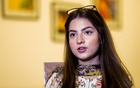 Dananeer Mobeen, 19, a social media influencer who has become famous after her five-second video went viral, speaks during an interview with Reuters, in Karachi, Pakistan February 27, 2021. Picture taken February 27, 2021. REUTERS/Akhtar Soomro