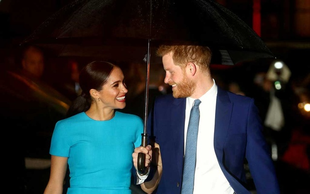 Britain's Prince Harry and his wife Meghan, Duchess of Sussex, arrive at the Endeavour Fund Awards in London, Britain, March 5, 2020. REUTERS