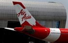 Tail of AirAsia X plane as seen at the Garuda Maintenance Facility AeroAsia in Tangerang, Indonesia, September 20, 2017. REUTERS