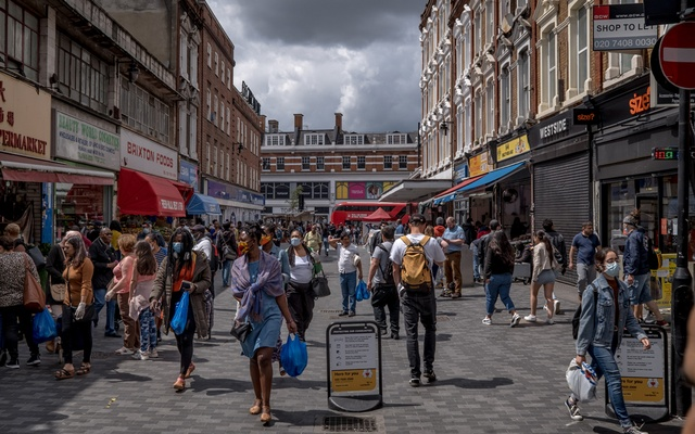 Shoppers on Electric Avenue in the Brixton neighbourhood of London, June 20, 2020. The New York Times
