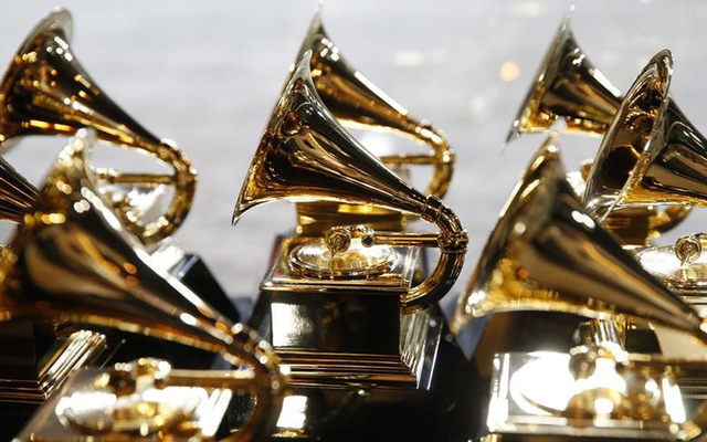 60th Annual Grammy Awards – Show – New York, US, 28/01/2018 – Grammy Awards trophies are displayed backstage during the pre-telecast. REUTERS/Carlo Allegri/File Photo