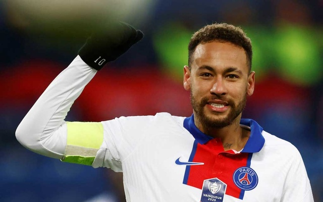 Football - French Cup - Round of 64 - Caen v Paris St Germain - Stade Michel d'Ornano, Caen, France - February 10, 2021 Paris St Germain's Neymar. REUTERS