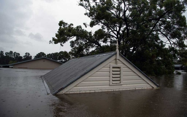 Flooding in Windsor, Australia, on Monday, March 22, 2021. Nearly 20,000 Australians have been forced to evacuate because of flooding, and more than 150 schools have been closed. (Matthew Abbott/The New York Times)