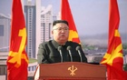 North Korean leader Kim Jong Un attends a ceremony to inaugurate the start of construction on the first phase of a project to eventually build 50,000 new apartments, in Pyongyang, North Korea, in this photo released March 24, 2021 by North Korea's Korean Central News Agency (KCNA). KCNA via REUTERS