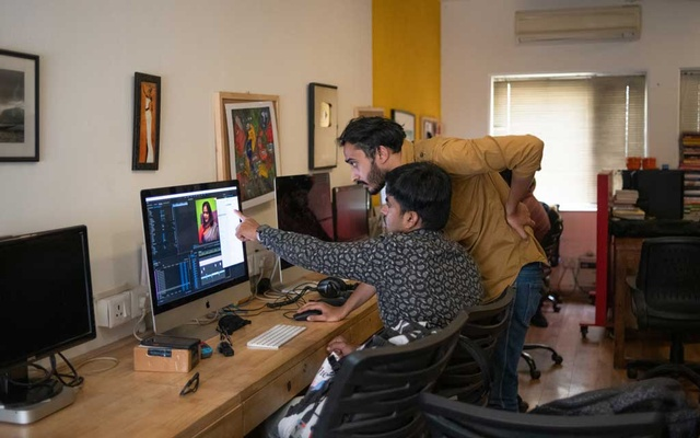 Journalists at The Wire, an online media outlet that has challenged the Indian government's narratives, at its offices in New Delhi, March 24, 2021. The New York Times