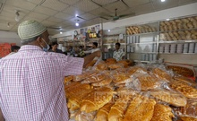 Breads of different shapes are sold at Tk 150 to Tk 500 per kg on Nazimuddin Road in Old Dhaka on Shab-e-Barat on Monday, Mar 29, 2021. Photo: Mahmud Zaman Ovi