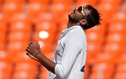 Cricket - Fourth Test - Narendra Modi Stadium, Ahmedabad, India - March 6, 2021. India's Axar Patel reacts. REUTERS