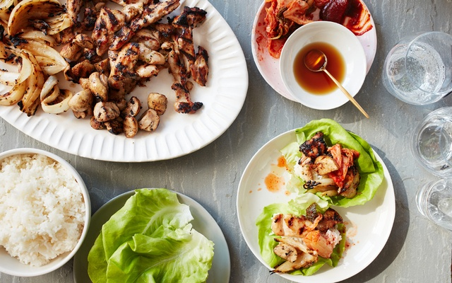 Chicken and mushroom bulgogi lettuce wraps on Jul 21, 2020. Food styled by Rebecca Jurkevich. Johnny Miller/The New York Times