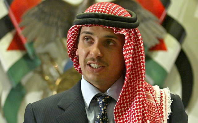Jordan's Crown Prince Hamza bin Hussein delivers a speech to Muslim clerics and scholars at the opening ceremony of a religious conference at the Islamic Al al-Bayet University in Amman, Jordan August 21, 2004. REUTERS