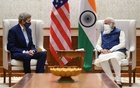 US Special Presidential Envoy for Climate John Kerry meets with India's Prime Minister Narendra Modi in New Delhi, India, April 7, 2021. India's Press Information Bureau via REUTERS