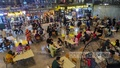 Dining behind the shutters at Dhali Food Court by dodging lockdown ban