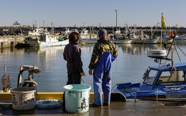 Fishing boats in Iwaki, a coastal city in Fukushima Prefecture, Japan, on Dec. 4, 2019. The Japanese authorities conduct routine screenings of seafood from the region. The New York Times