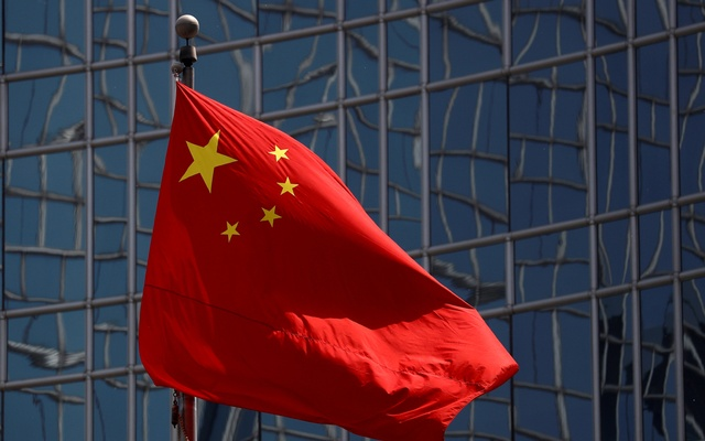 FILE PHOTO: The Chinese national flag is seen in Beijing, China April 29, 2020. REUTERS