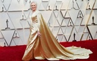 Actor Glenn Close poses wearing Carolina Herrera. REUTERS