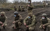 Soldiers at a base in Khlibodarivka, Ukraine, April 19, 2021. The New York Times