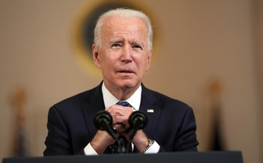 President Joe Biden speaks at the White House in Washington on Tuesday, April 20, 2020, about the murder of George Floyd in Minneapolis last year. The New York Times