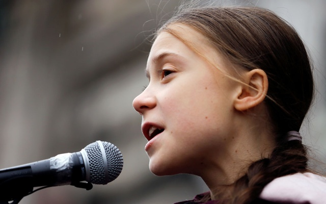 Swedish teenage climate activist Greta Thunberg speaks during a demonstration of the Fridays for Future movement in Lausanne, Switzerland January 17, 2020. REUTERS