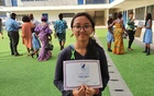A picture of me. I got the Principal's Honour Roll at my school