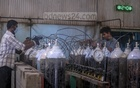 Workers producing medical oxygen at Islam Oxygen factory in Narayanganj's Rupganj amid a rising demand fuelled by a second wave of coronavirus infections. Photo: Asif Mahmud Ove