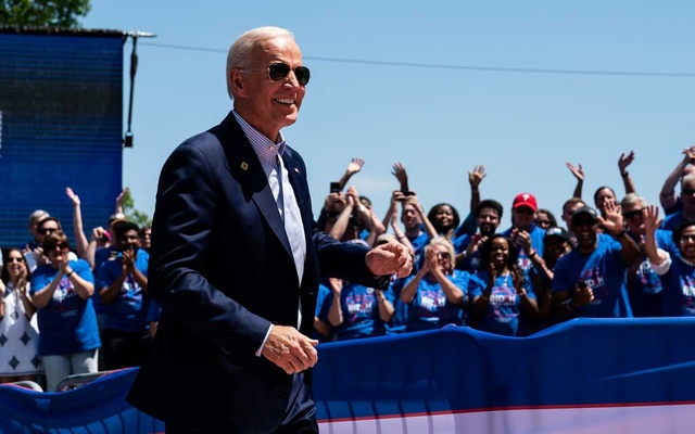FILE — Joe Biden at his presidential primary campaign kickoff rally in Philadelphia, May 18, 2019. Although now crowding 80, President Biden retains some of the mediagenic qualities that ushered him into the political limelight in the early 1970s, just as political theatre became a daily amusement thanks to a constant — if not yet a 24-hour — news cycle. (Erin Schaff/The New York Times)