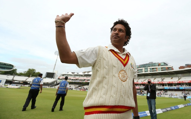 Cricket - MCC v Rest of the World - Lord's - 5/7/14 Sachin Tendulkar at the end of the match. REUTERS