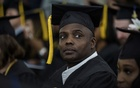 Maurice Smith, who graduated through the Goucher Prison Education Partnership, attends his graduation ceremony at Goucher College in Towson, Md, May 24, 2019. Smith's graduation from Goucher College illustrates the potential of a bipartisan effort to overhaul the criminal justice system. Rosem Morton/The New York Times