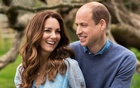 Britain's William and Catherine, Duchess of Cambridge, pose at Kensington Palace to mark their 10th wedding anniversary, in London, Britain in this undated picture obtained by Reuters on April 29, 2021. REUTERS