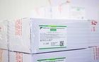 Boxes of some of the first 500,000 of the 2-million AstraZeneca coronavirus vaccine doses that Canada has secured through a deal with the Serum Institute of India in partnership with Verity Pharma at a facility in Milton, Ontario, Canada March 3, 2021. REUTERS