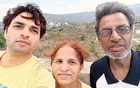In an undated image provided to The New York Times, Ajay Koli with his parents, Savitri and Ram Prasad Koli. After his parents fell seriously ill with COVID-19, Ajay Koli went on a desperate hunt for oxygen and medical care. (via The New York Times)