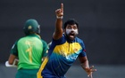Cricket - ICC Cricket World Cup Warm-Up Match - Sri Lanka v South Africa - Cardiff Wales Stadium, Cardiff, Britain - May 24, 2019 Sri Lanka's Thisara Perera appeals to the umpire for the wicket of South Africa's Hashim Amla Action Images via Reuters