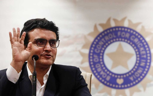 Former Indian cricketer and current BCCI (Board Of Control for Cricket in India) president Sourav Ganguly reacts during a press conference at the BCCI headquarters in Mumbai, India, October 23, 2019. REUTERS