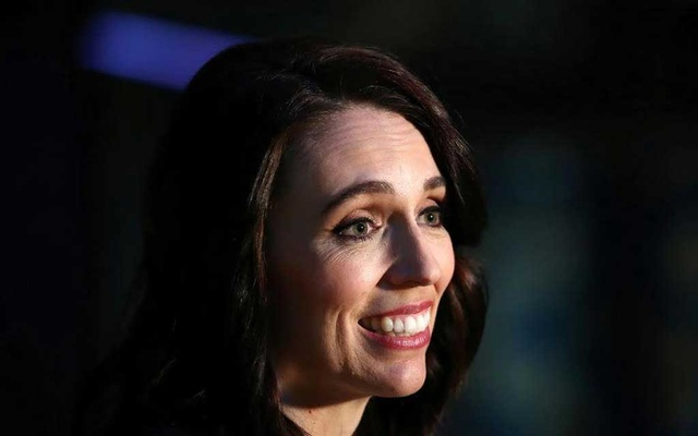 New Zealand Prime Minister Jacinda Ardern addresses the media after participating in a televised debate with National leader Judith Collins at TVNZ in Auckland, New Zealand, September 22, 2020.