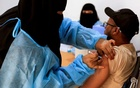 A man receives the AstraZeneca vaccine against the coronavirus disease (COVID-19), at a medical centre in Taiz, Yemen April 23, 2021. REUTERS